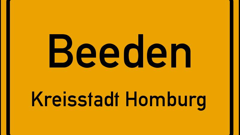 Ortsschild Beeden